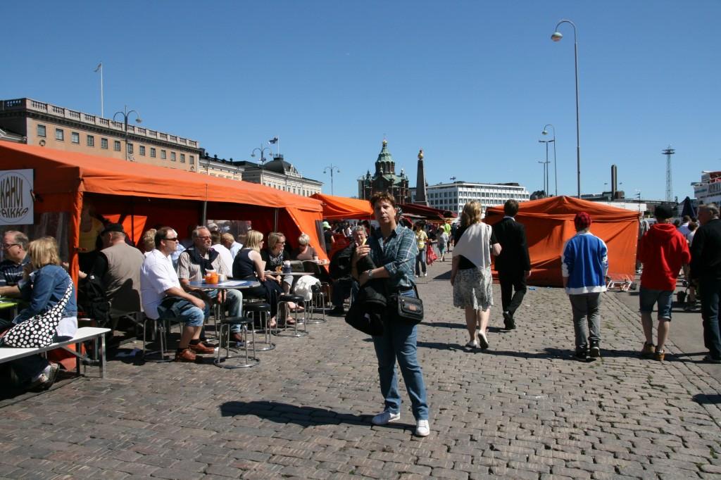 En el mercado de Helsinki
